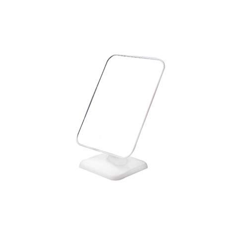 JXJJD Einfacher Desktop Make-upspiegel tragbarer Spiegel einseitiger HD Art und Weisespiegelkursteilnehmer tragbarer großer Frisierspiegel (Farbe : Weiß)