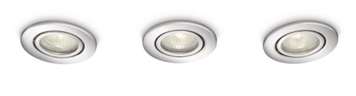 Philips MyBathroom Roots Bathroom Recessed Spotlight Chrome (Includes 3 x 35 Watts GU10 Bulb) Test