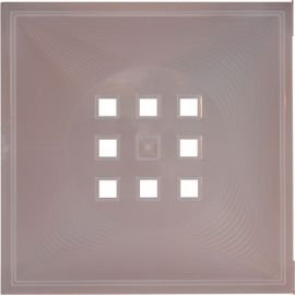 DEKAFORM Tür für Vitrine Würfelregal Flexi Einsatz Ikea Regal Expedit+Kallax alternativ zu Glas* Farblos-transparent (milchig)