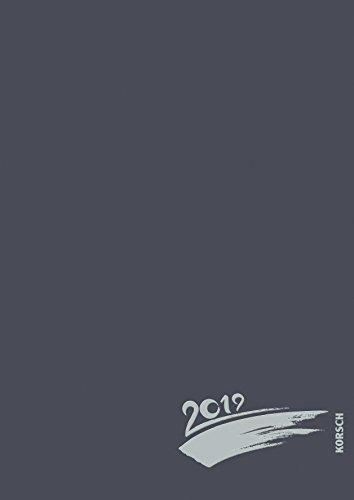 Foto-Malen-Basteln A4 anthrazit mit Folienprägung 2019: Fotokalender zum Selbstgestalten. Do-it-yourself Kalender mit festem Fotokarton und edler Folienprägung.