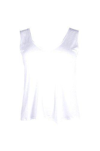 blanc Hommes Plus Charlotte V Cou Vest Blanc