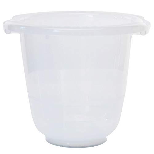 Tummy Tub Badeeimer/Babybadewanne für Früh- Neugeborene und größere Babys/Badewanne Kunststoff transparent/kippsicher und rutschsicher/ab Geburt bis 36 Monate, Design:klar
