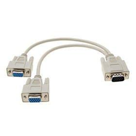 VGA-Kabel M/F 1Stecker auf 2weiblich Monitor Splitter