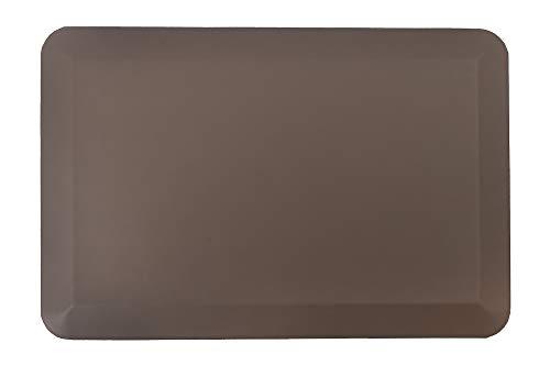 Amcomfy Anti-Ermüdungsmatte | Antimüdigkeitsmatte | Anti Fatigue Fußmatte | Komfort Matte ergonomisch geformt für Büro | Arbeitsplatzmatte für Sitz-Steh-Schreibtisch (50 x 76 x 1,9 cm, Braun)