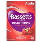 Bassetts Raspberry and Pomegranate Adult Multivitamin Chewies - Pack of 30 by Bassetts