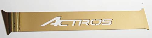 truckdanet Edelstahl LKW Zubehör für Actros MP4, seitliches Profil Links mit Actros Schriftzug