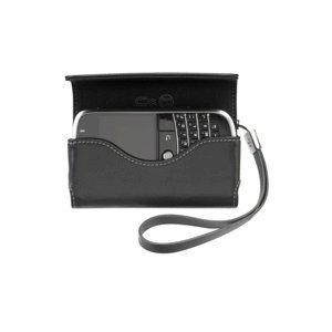Blackberry Horizontal Leather Pouch schwarz-Hüllen für Mobiltelefone, Bold 9000, Schwarz Blackberry Leather Horizontal Pouch
