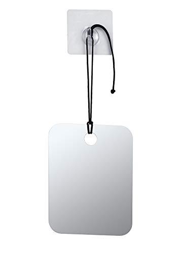 Mogokoyo Anti-Beschlag Rasierspiegel Duschspiegel Badspiegel Einstellbarer Wandspiege Schminkspiegel mit Klebehaken und Seil für Badezimmer Duschen