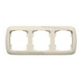 Niessen arco - Marco 3 elemento horizontal serie arco blanco marfil