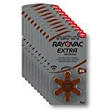 Rayovac Extra Advanced Hearing Aid Batteries, Size 312, Brown Tab, PR41, Pack of 60