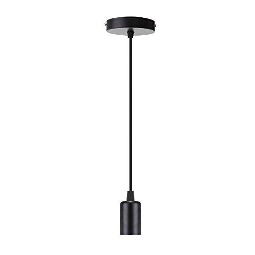 EIVOTOR Schnurpendel, 1 Meter E27 Lampenfassung DIY Lampe Zubehör Pendelleuchten Hängeleuchte...