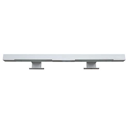 Halogen-spiegel (FACKELMANN Halogen-Aufsatzleuchte für Spiegel/Maße (B x H x T): ca. 59 x 2 x 10 cm/hochwertige Halogen-Leuchte aus Aluminium/Leuchte fürs Badezimmer und WC/Farbe: Silber/Energieeffizienzklasse A)