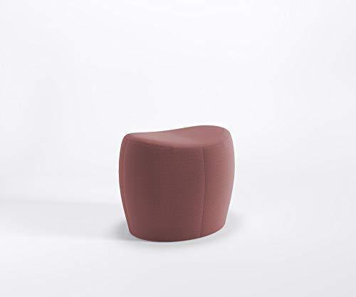 Designer Sitzpouf ONLY Lounge Pouf Hocker Fußstütze Schurwolle Main LINE Flax, Farbe :MLF3 - Rot-Grau
