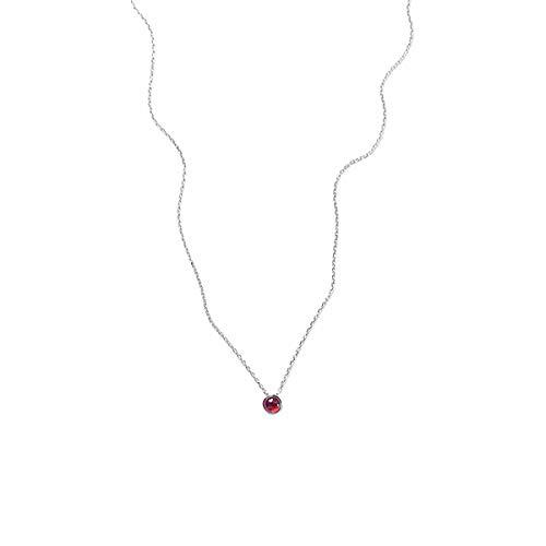 Zinnober Anhänger (Serrale Herzkette Einfache S925 Sterling Silber Zinnober Emaille Halskette Damen Schlüsselbein Kette Rubin Anhänger Frau Geburtstag Liebe)