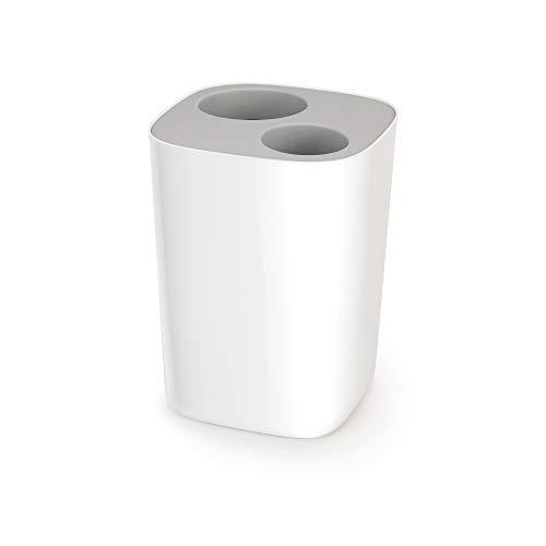 Split - Badezimmer Abfalltrenner - weiß/grau -
