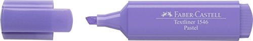 Faber-Castell 154656-Scatola con 10Evidenziatori Textliner 1546, Colore: Pastello Lilla Pastello