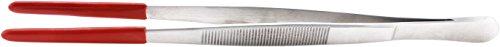 20cm Pinzette gerade - Futterpinzette - Edelstahlpinzette mit Schutzgummi