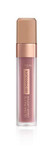 L'Oréal Paris Infaillible Ultra Matte Les Chocolats in Nr. 842 Candy Man, Flüssig-Lippenstift mit Ultra-Matt-Finish und Schokoladen-Duft, 8 ml
