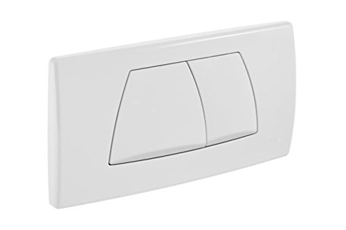 Geberit 115888111 - Placca di comando Twinline con 2 pulsanti, colore: Bianco