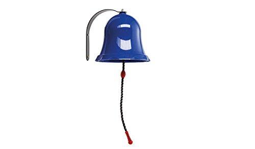 Große Spielzeug Klingel-Glocke für Garten Kinder Spieltürme / Spielhäuser / Klettertürme aus Kunststoff, Blau im Maß von ca. 24 x 51 cm (Breite x Höhe)