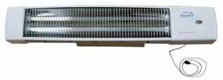Estufa baño pared – Radiador electrico de pared con cuerda, infrarrojos, color blanco, 1200W
