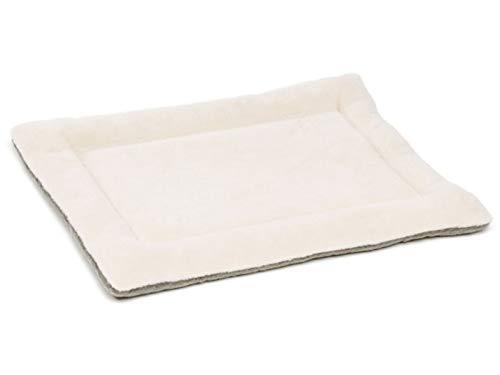eBasics Hundekäfig Pad Box Bett Matte Matratze Hundehütte Bett Matte Couch Bezug für Haustiere Katzen Hunde Waschbar, 36Lx24Wx1.2H inch, Elfenbeinfarben -