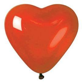 BWS- Conf. 100 Palloncini a Forma di Cuore Lattice, Colore Rosso, RF5P05