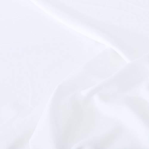 Waschen Sie Kostüm Polyester - TOLKO Modestoff | Dekostoff universal Stoff zum Nähen und Dekorieren | Blickdicht, knitterarm | Meterware (Weiß)