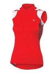 Pearl Izumi Damen Select ärmellos Print Jersey, damen, True Red/Black Fleurette (Ärmelloses Izumi Pearl)