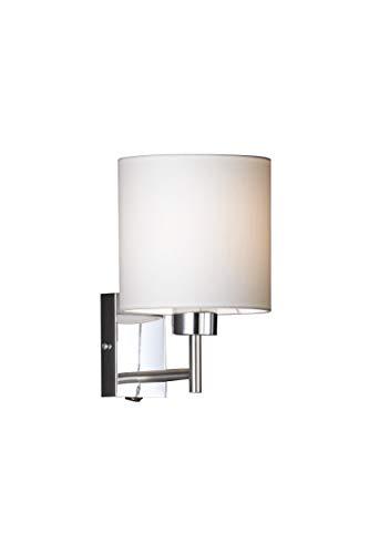 Honsel leuchten 36161 - lampada a parete in nichel e cromo, colore: bianco