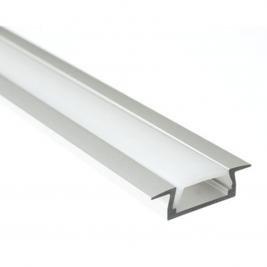 LED Profil MICRO-K eloxiert L=2 Meter für LED Strip Abdeckung Opal -