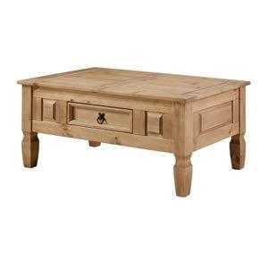 Sit Möbel Couchtisch, Mexico, Pinie massiv gebeizt, Lackiert, Gewachst, antikfinish,