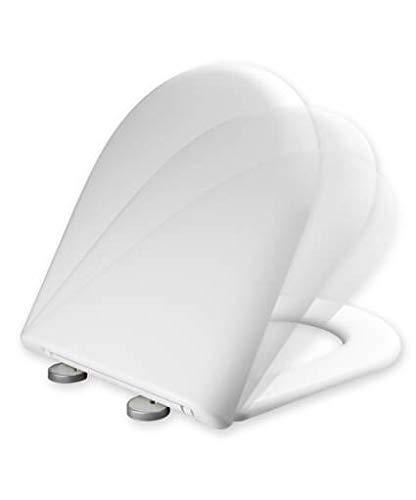 Tapa y asiento de inodoro con caída amortiguada compatible con Meridian Roca – (Modelo Antiguo)