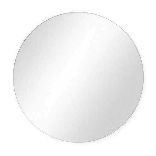 PHOTOLINI Spiegel Rund 70 cm Durchmesser Deko-Wandspiegel/Runder Spiegel/Rundspiegel