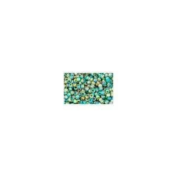 I-Beads cc179f Rocailles Toho 11/0 Rainbow Frosted Green Emerald 10 g