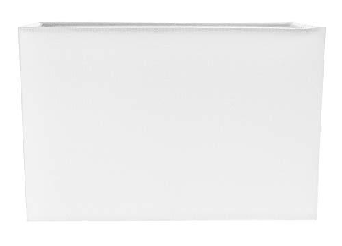 Zeitgemäß und stilvoll Elfenbeinweißes Leinengewebe Rechteckiger Lampenschirm von Happy Homewares - Lampenschirm Rechteckige