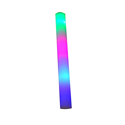 CyCspriqh Luminous LED Glow Light Stick Foam Wand Concert Performance Party Prop Kids Toy - Multicolor