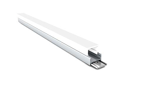 2m MEXLITE Aufbau-LED-Alu-Profil MEX-LN12 19,5x21mm Abdeckung opak Leiste Schiene für LED-Streifen/Stripe, mit Abdeckung opak & 2 Clip 20 Montage-clips