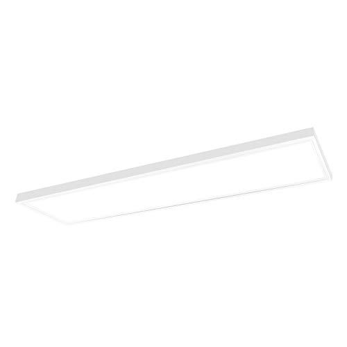 LED Deckenleuchte warmweiß 120x30 cm mit Aufputz-Rahmen Leuchte 40W Deckenlampe Aufputz Büroleuchte Xtend PLe2.0