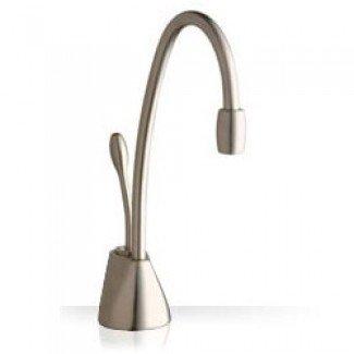 InSinkErator 44317B GN1100BS - Rubinetto in acciaio spazzolato, erogazione immediata acqua calda, con kit