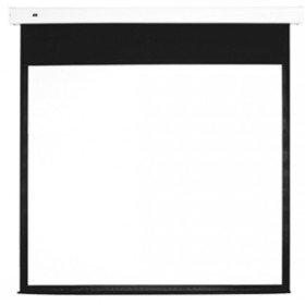 Motorized Projection Screen (MULTIBRACKETS Leinwand motorisiert 1:1,112 Z,200x200cm,Diagonale 284cm, Weiss Rahmen schwarz,Inkl. Steuerung und FB, Gain:1,0)
