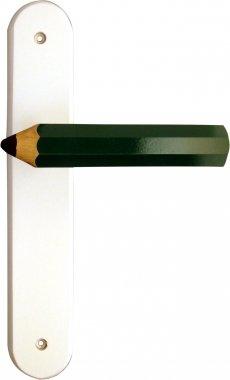 Poignée de porte intérieure pour chambre Enfant sur plaque Crayon