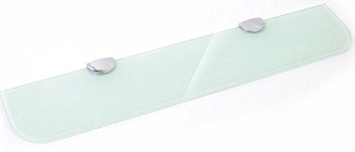 Glas-Wandregal mit, Badezimmer, Küche, Schlafzimmer, Schwarz, 3Farben und in 3Größen 300mm, 400mm, 500mm, Weiß