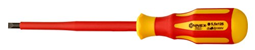 Connex Elektriker-Schraubendreher VDE 2-Komponenten-Griff, 5,5 x 125 mm, COX336055