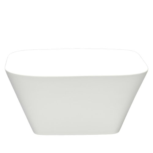 Fortessa Fortaluxe SuperWhite Vitrified China Dinnerware, 6-Inch Square Deep Serving Bowl, Set of 6 Deep Square Bowl