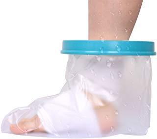 Wasserdichte Cast Cover, Waterproof Adult Sealed Cast Bandage Protector Wunde Fraktur Fuß Knöchel Bein Knie Abdeckung für Dusche (Erwachsener Fuß)