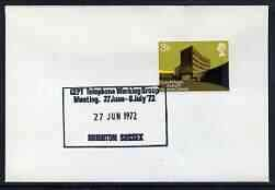 Postmark - Great Britain 1972 cover spec'l cancel for CEPT Telephone Working Group Meeting, Brighton CEPT EUROPA TELEPHONES COMMUNICATIONS JandRStamps