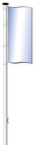 MWI Fahnenmast 5,40m HüB einteilig - Z2 Aluminium eloxiert, mit Hissvorrichtung