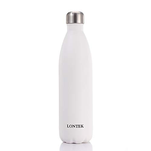 LONTEK Trinkflasche Edelstahl Wasserflasche Doppelwandig Vakuum Isoliert Edelstahl Sport Trinkflaschen 750ml
