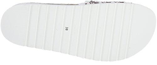 Sixty Seven Selin, Tongs Femme Multicolore - blanc/cuivre/cuir de porc satiné blanc (Stairs Blanco Cobre F / Cerdo Serraje Satinado Blanco P)